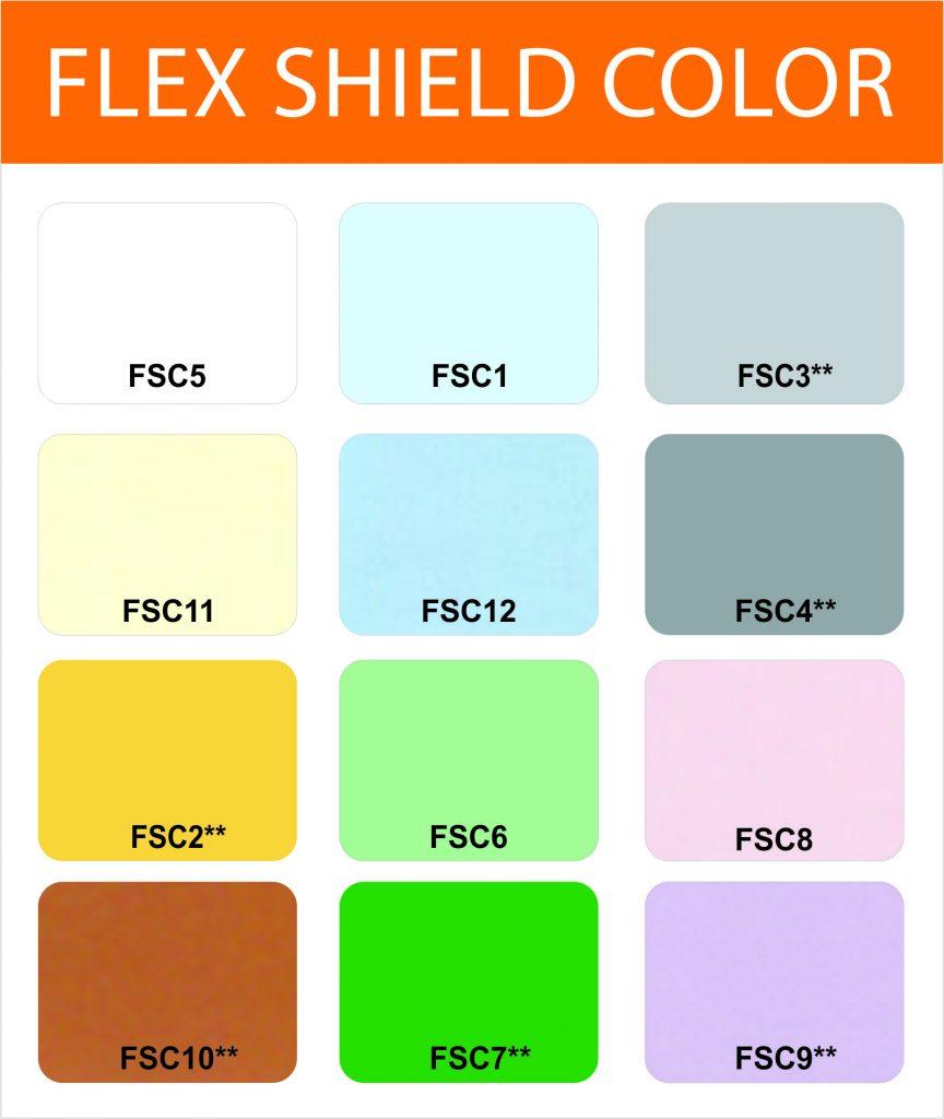 Bảng màu Flex Shield Color - Sơn chống thấm