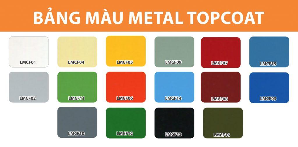 Bảng màu Metal Topcoat